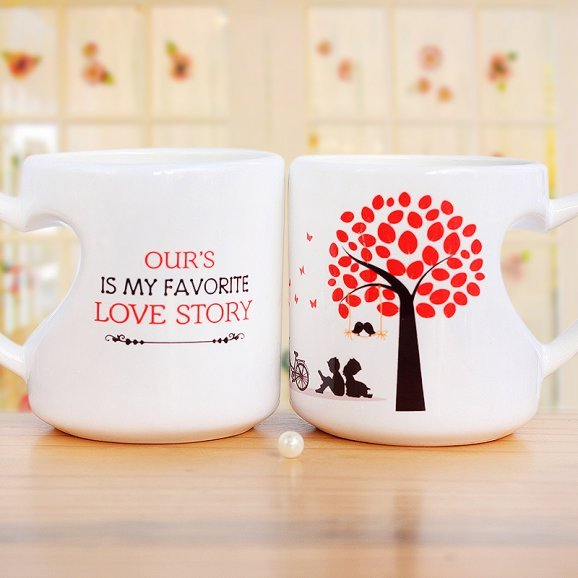 Favorite Love Story Mug with Both Sided View