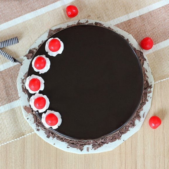 Enthralling Black Forest Delight Cake - Top View