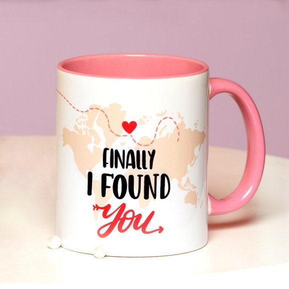 A Personalised Love Mug with Front Sided View