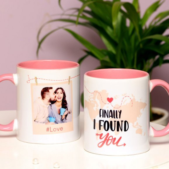 A Personalised Love Mug with Both Sided View
