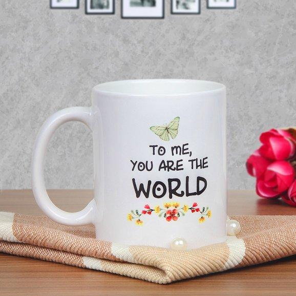 Floral Mom Mug - A Mothers Day Special Flower Printed Mug with Back Sided View