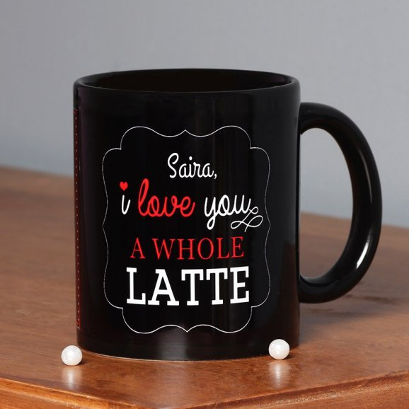 I Love You Personalised Mug with Front Sided View