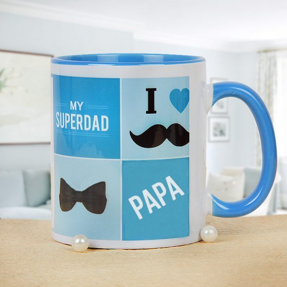 My Superdad Mug with Front Side View