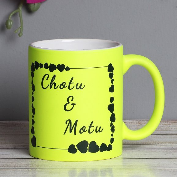 Personalised Parrot Green Reflective Love Mug