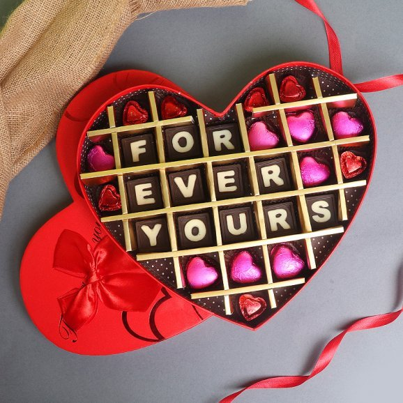 Forever Yours Love Handmade Chocolates in a Box