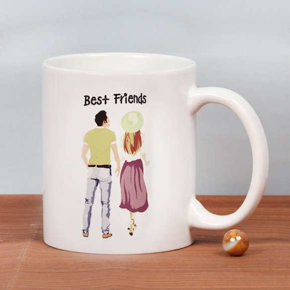 Friendship Captured - Customised Mug Gift with Front Side View