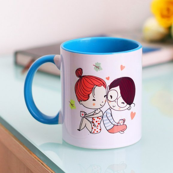 Love Forever Quote Printed Mug with Back Side View