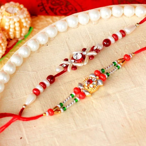 Gorgeous Kundan Rakhi Set