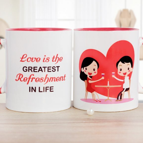 Greatest Refreshment In Life Mug with Both Sided View