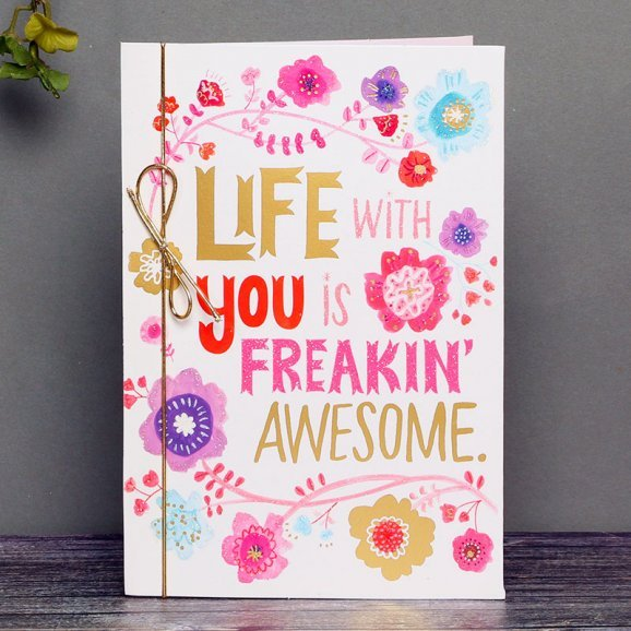 Freakin Awesome Love Greeting Card