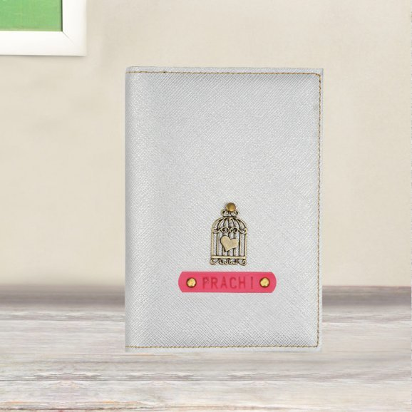 Gorgeous Grey Personalized Passport Holder