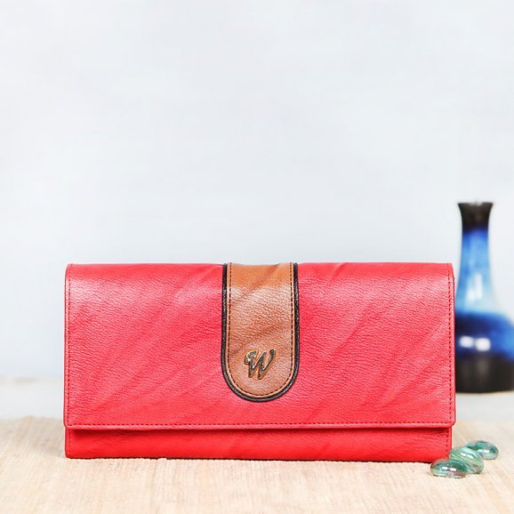 One Branded Red Clutch