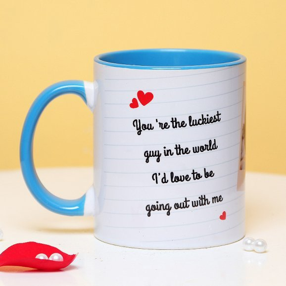 Personalised Love Mug with Back Side View