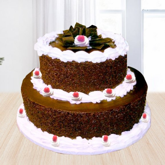 2 tier black forest cake - A gift of Heritage Black Forest combo