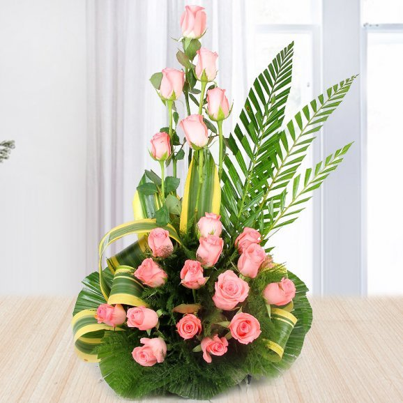 20 pink roses bouquet - A gift of Heritage Black Forest combo