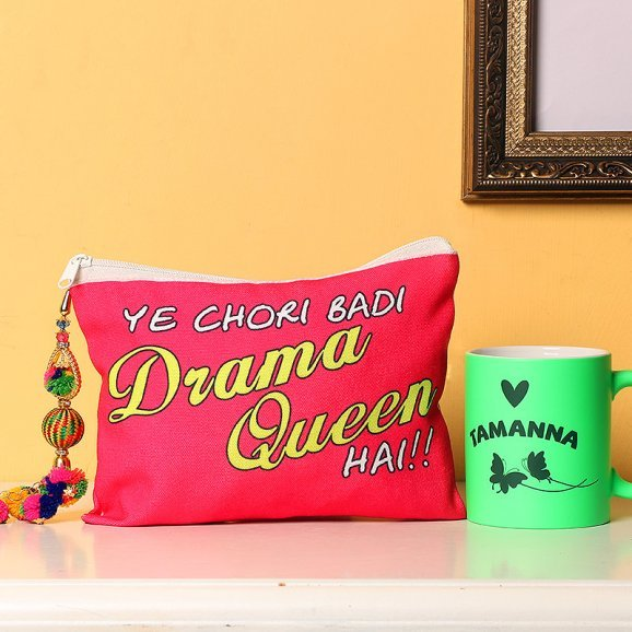 Pouch with a Personalised Mug Combo for Her