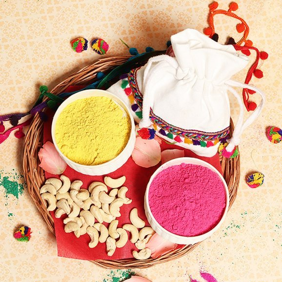 Holi Colors with Cashews Combo