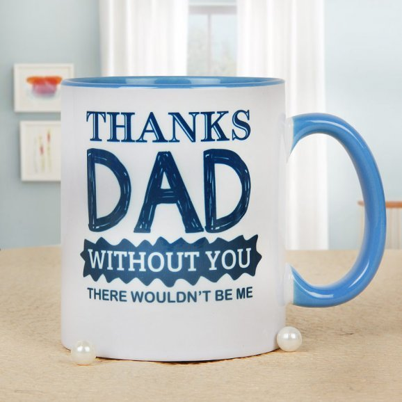 I am Thankful Mug for Dad with Front Sided View