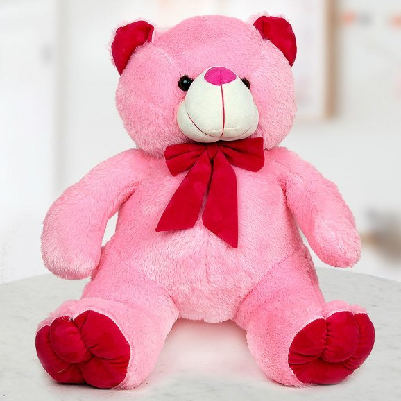 A 24 inch cute pink soft Teddy