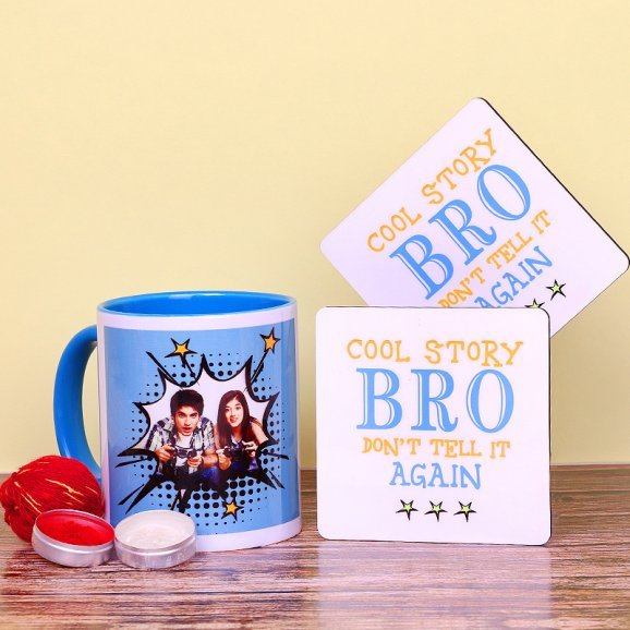 Personalised Mug and Coaster for Brother