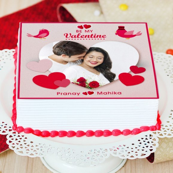 Valentine Theme Cake - Zoom View