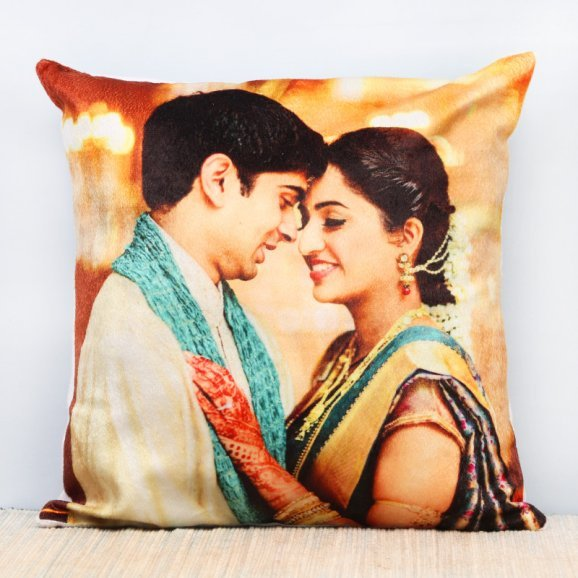 Personalised LED Photo Cushion with Clear View