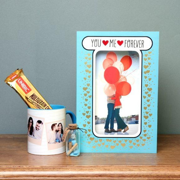 Personalised Frame with Mug and Chocolates with Love Letter