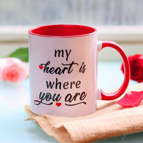 Love Binds Couple Mug with Front Side View