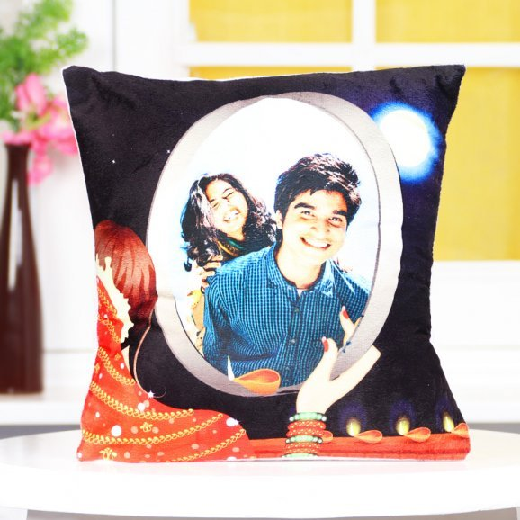 Personalised Karwa Chauth Cushion