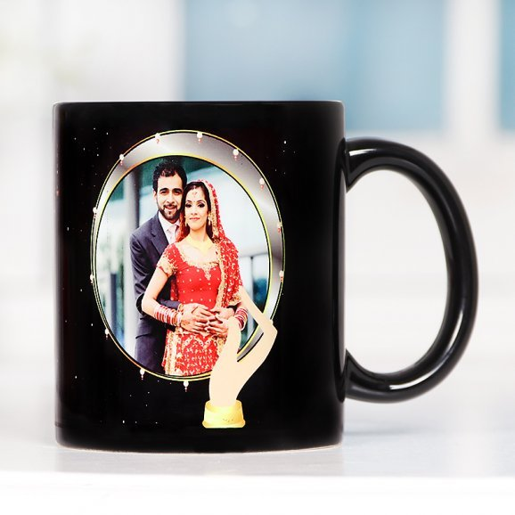 Karwa Chauth Personalised Mug with Front Side View