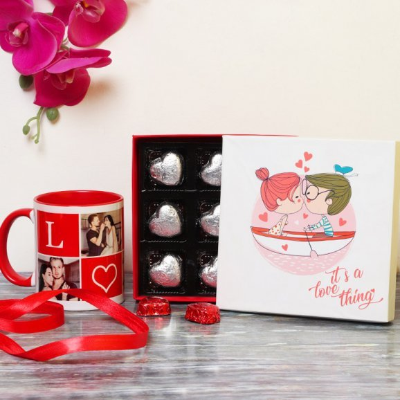 Handmade Chocolates with Personalised Mug Combo