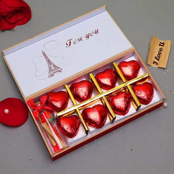 Handmade Chocolates with a Love Letter Combo