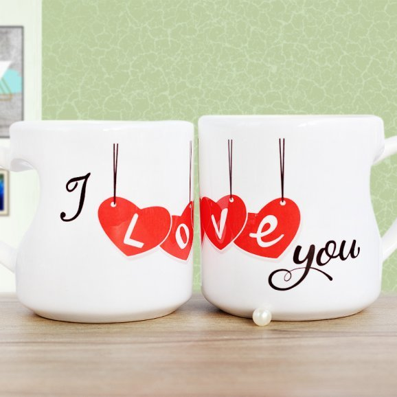 I Love you Printed Mug with Both Sided View