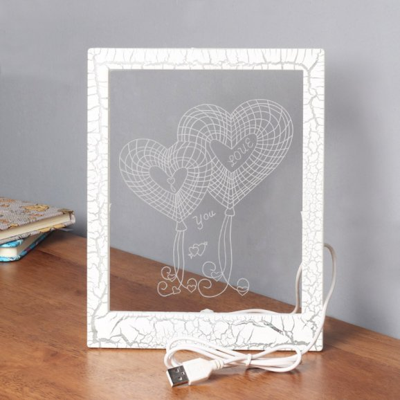 LED Glass Photo Frame with Normal View