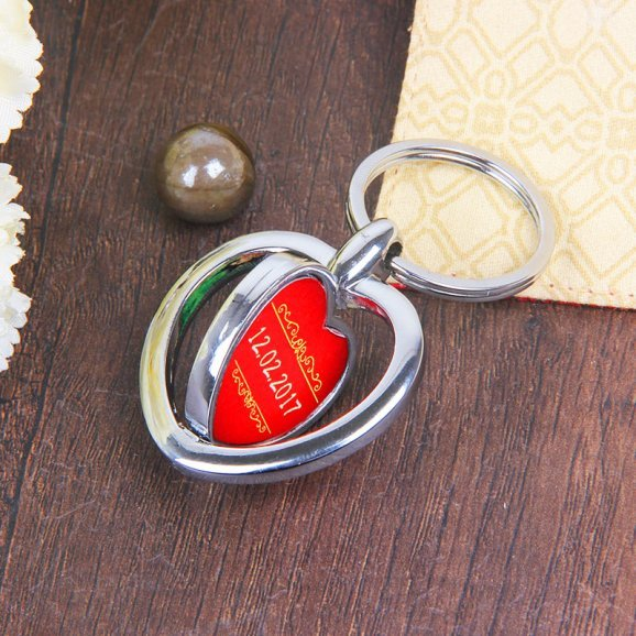 Keyring for Couple with Oblique View