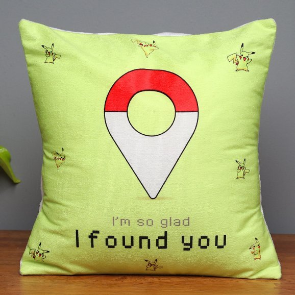 Lucky To Find You Printed Cushion with Closed View