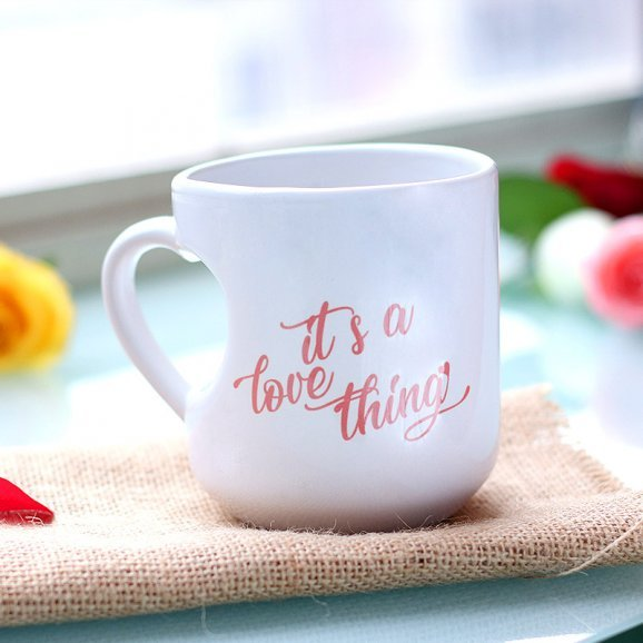 Love Thing Printed Mug with Back Side View