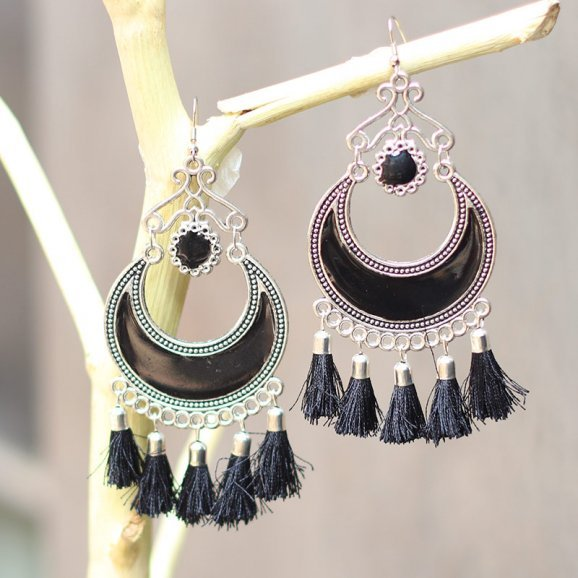 Pair of Black Earrings