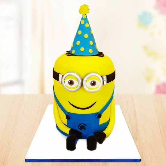 Hello Minion Cake for Little Kids