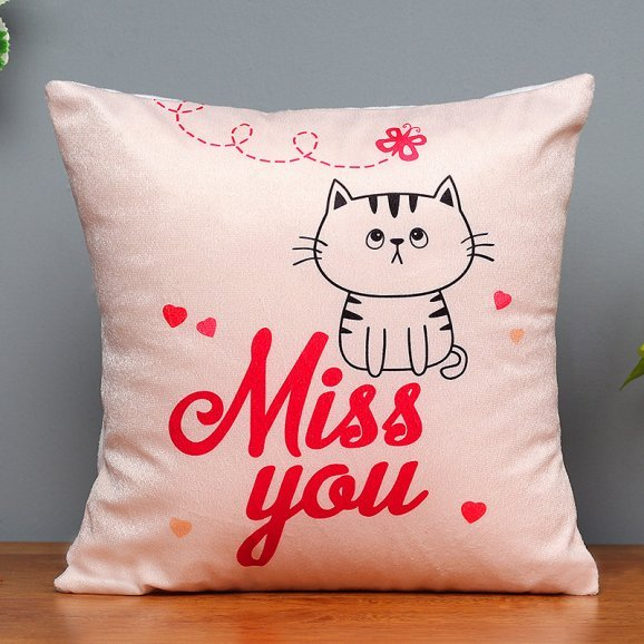 Miss You Printed Cushion