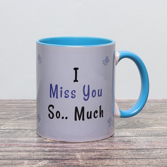 Miss You Panda Printed Mug with Front Side View