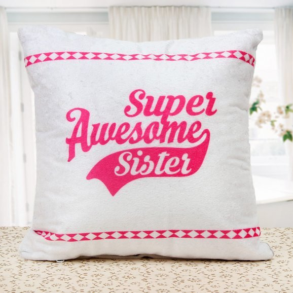 my awesome sibling sister cushion