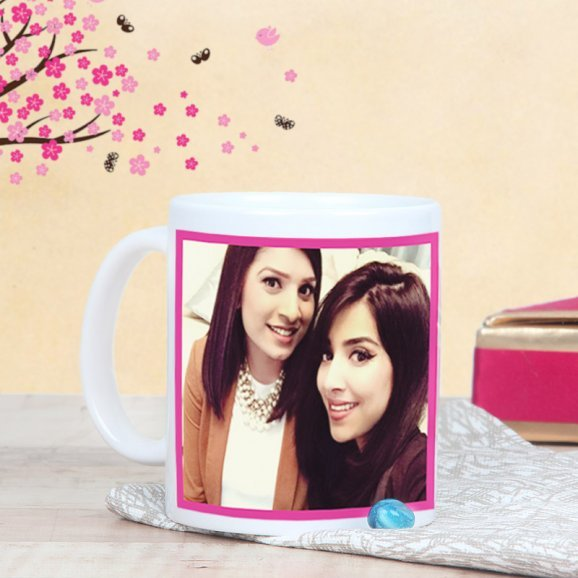 Personalised Mug for Gorgeous Sister with Back Sided View