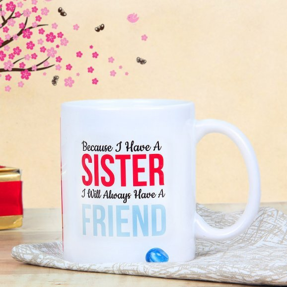 Personalised Mug for Gorgeous Sister with Front Sided View