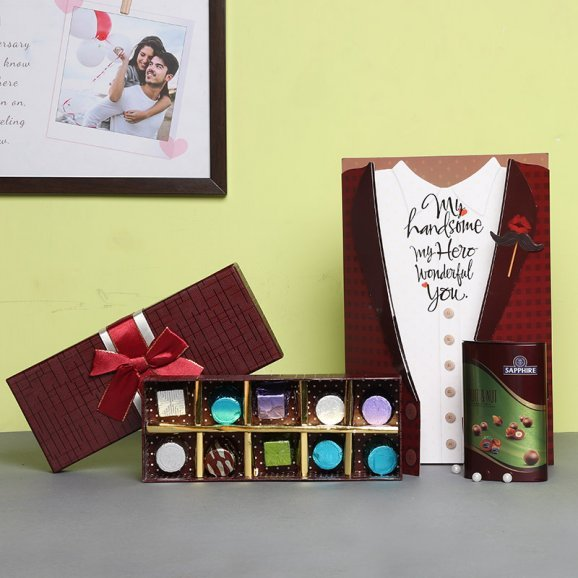 Combo of Chocolates with Greeting Card for Husband