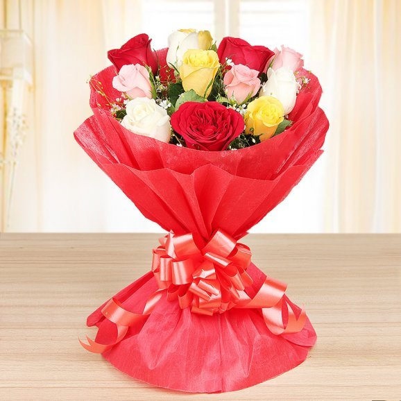 Bunch of mixed roses - A gift of Paired Perfections