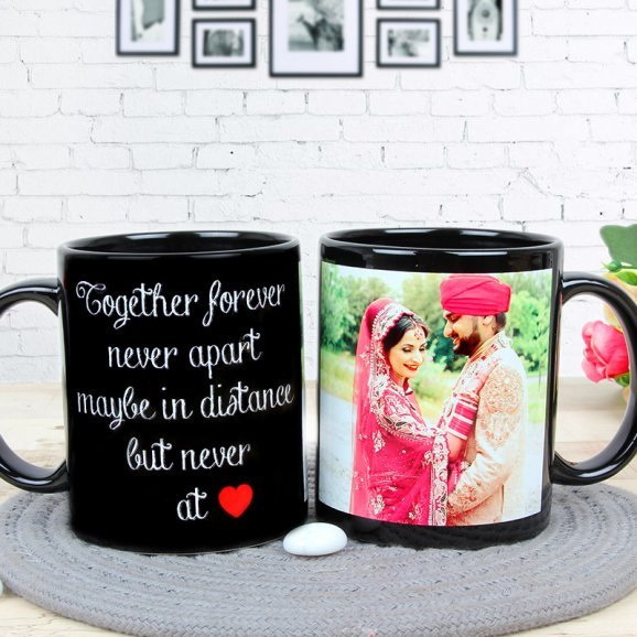 Partners For Life - A Customised Anniversary Mug with Both Sided View