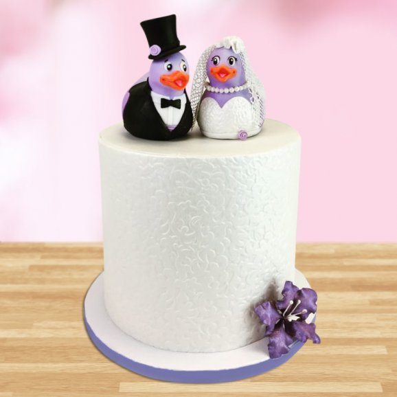 Penguin Couple Fondant Cake