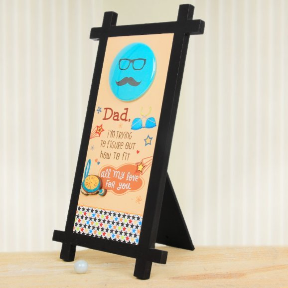 A Printed Table Stand for Dad with Oblique View