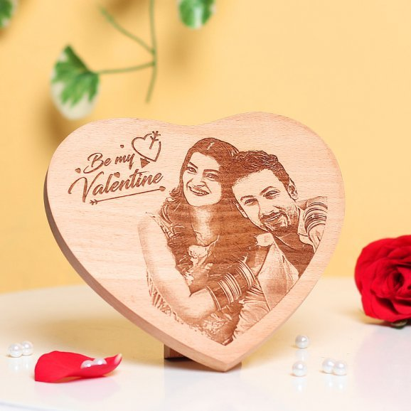 Heart Shaped Valentines Wooden Frame